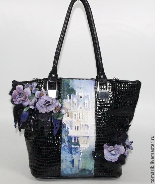 Женские сумки ручной работы. Ярмарка Мастеров - ручная работа. Купить сумка женская СИРЕНЕВОЕ НАСТРОЕНИЕ из натуральной кожи. Handmade.