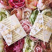 Открытки ручной работы. Ярмарка Мастеров - ручная работа Резные свадебные приглашения. Handmade.