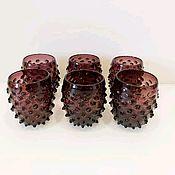Бокалы ручной работы. Ярмарка Мастеров - ручная работа Винтажные стаканы из цветного стекла. Handmade.