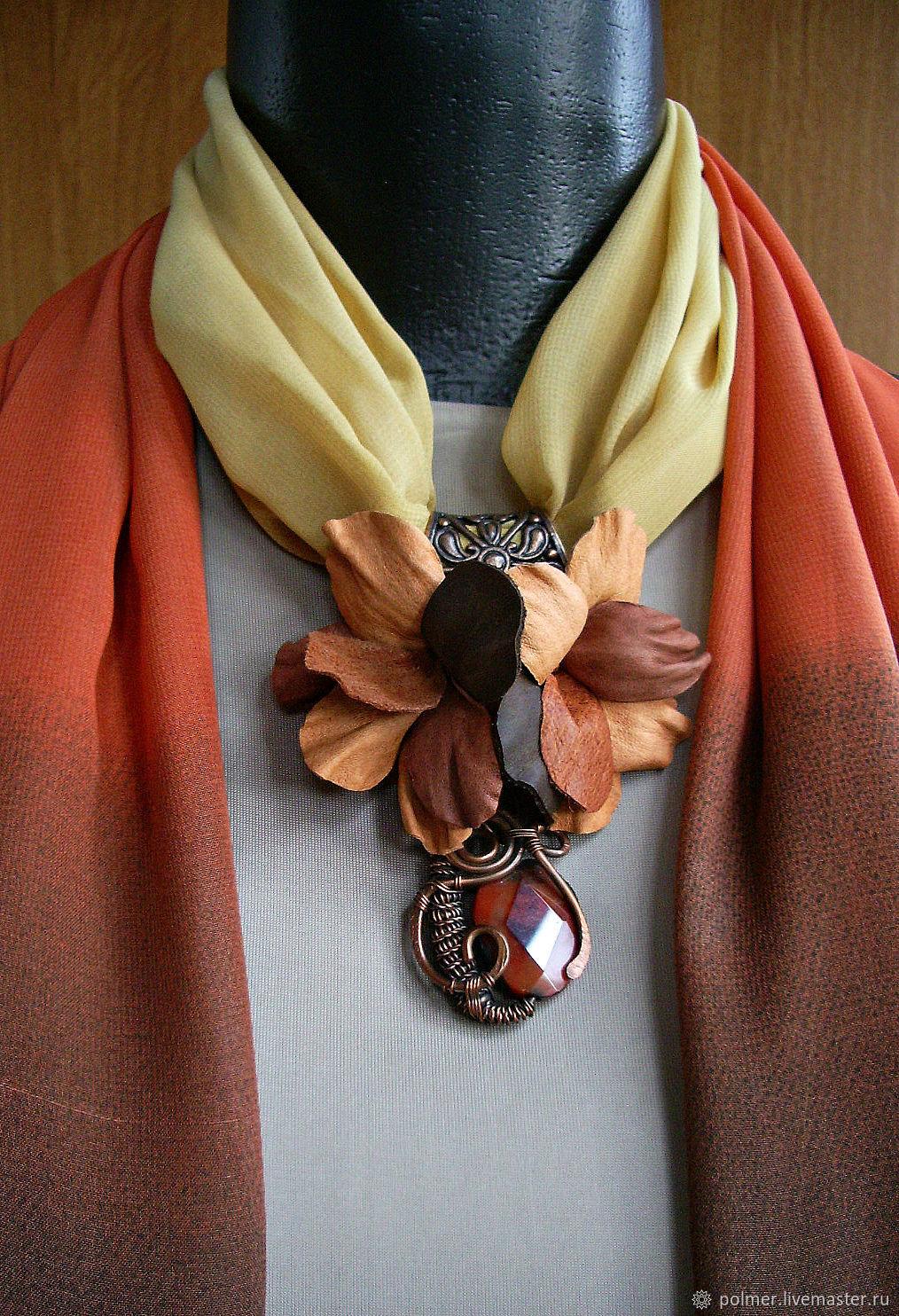 Шейное украшение с шарфом 141