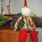 """Куклы и игрушки ручной работы. Ярмарка Мастеров - ручная работа Интерьерная кукла Тильда """"Санта"""". Handmade."""