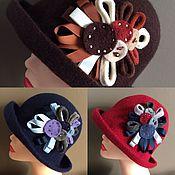 Аксессуары ручной работы. Ярмарка Мастеров - ручная работа Шляпа с брошью. Handmade.