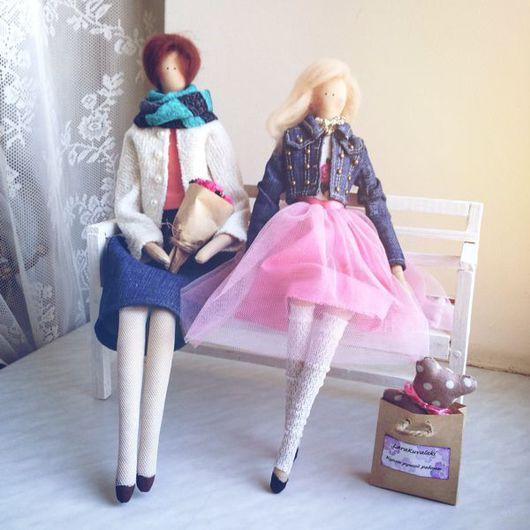 """Куклы Тильды ручной работы. Ярмарка Мастеров - ручная работа. Купить Портретные куклы """"Мама с дочкой"""". Handmade. Кукла, девушка"""