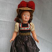 Винтаж handmade. Livemaster - original item The doll in the hat (Germany). Handmade.