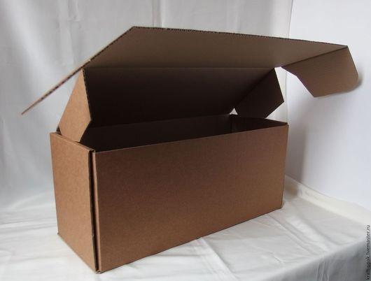 Упаковка ручной работы. Ярмарка Мастеров - ручная работа. Купить Коробка 42,5х16,5х19 самосборная. Handmade. Натуральный