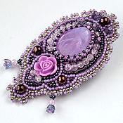 Украшения handmade. Livemaster - original item A beaded brooch In lilac garden. Handmade.