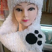 """Аксессуары ручной работы. Ярмарка Мастеров - ручная работа шапка """"Панда"""". Handmade."""