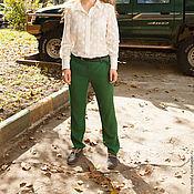 Одежда handmade. Livemaster - original item Novelty-Pants classic green. Handmade.