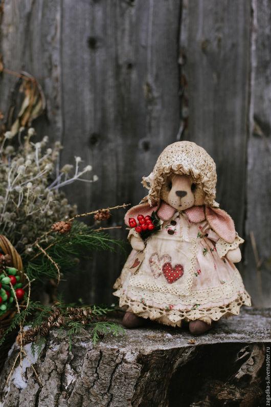 Ароматизированные куклы ручной работы. Ярмарка Мастеров - ручная работа. Купить Зайка с ягодами.. Handmade. Бледно-розовый, винтажный стиль