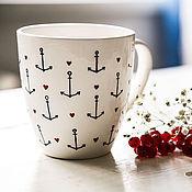 Посуда handmade. Livemaster - original item A girlfriend of a sailor. Mug handmade ceramics. Handmade.
