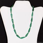 Украшения handmade. Livemaster - original item Beads from chrysoprase (m). Handmade.