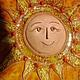 Этно ручной работы. Ярмарка Мастеров - ручная работа. Купить панно Солнце (1) Керамика. Handmade. Солнце, панно, подарок