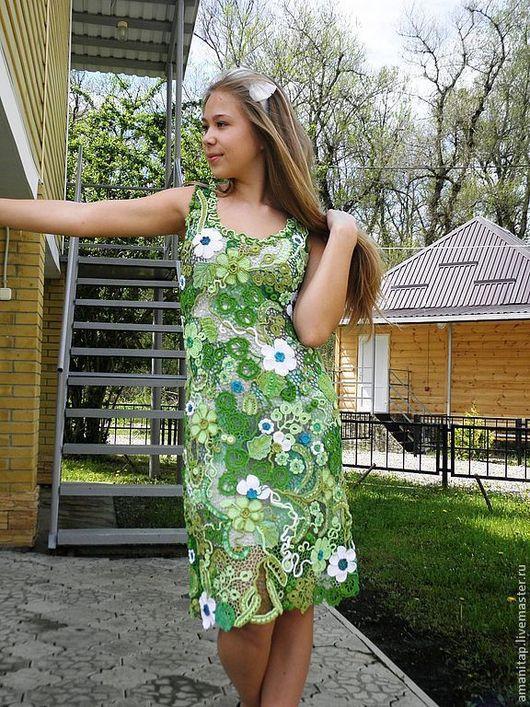 Платья ручной работы. Ярмарка Мастеров - ручная работа. Купить ВЭснА))) Платье ирландским кружевом. Handmade. Платье крючком