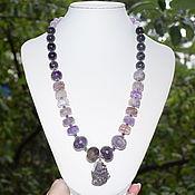 Украшения handmade. Livemaster - original item Delicate necklace with a pendant natural amethyst. The author`s work. Handmade.
