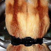 handmade. Livemaster - original item Red fox vest. Handmade.