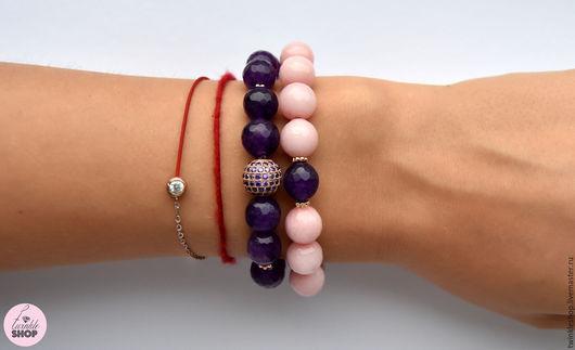 """Браслеты ручной работы. Ярмарка Мастеров - ручная работа. Купить Набор браслетов из агата """"Purple"""". Handmade. Фиолетовый, красивый браслет"""