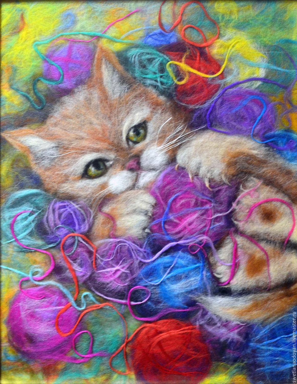 есть номера картины из шерсти котики фото бывают столешницы