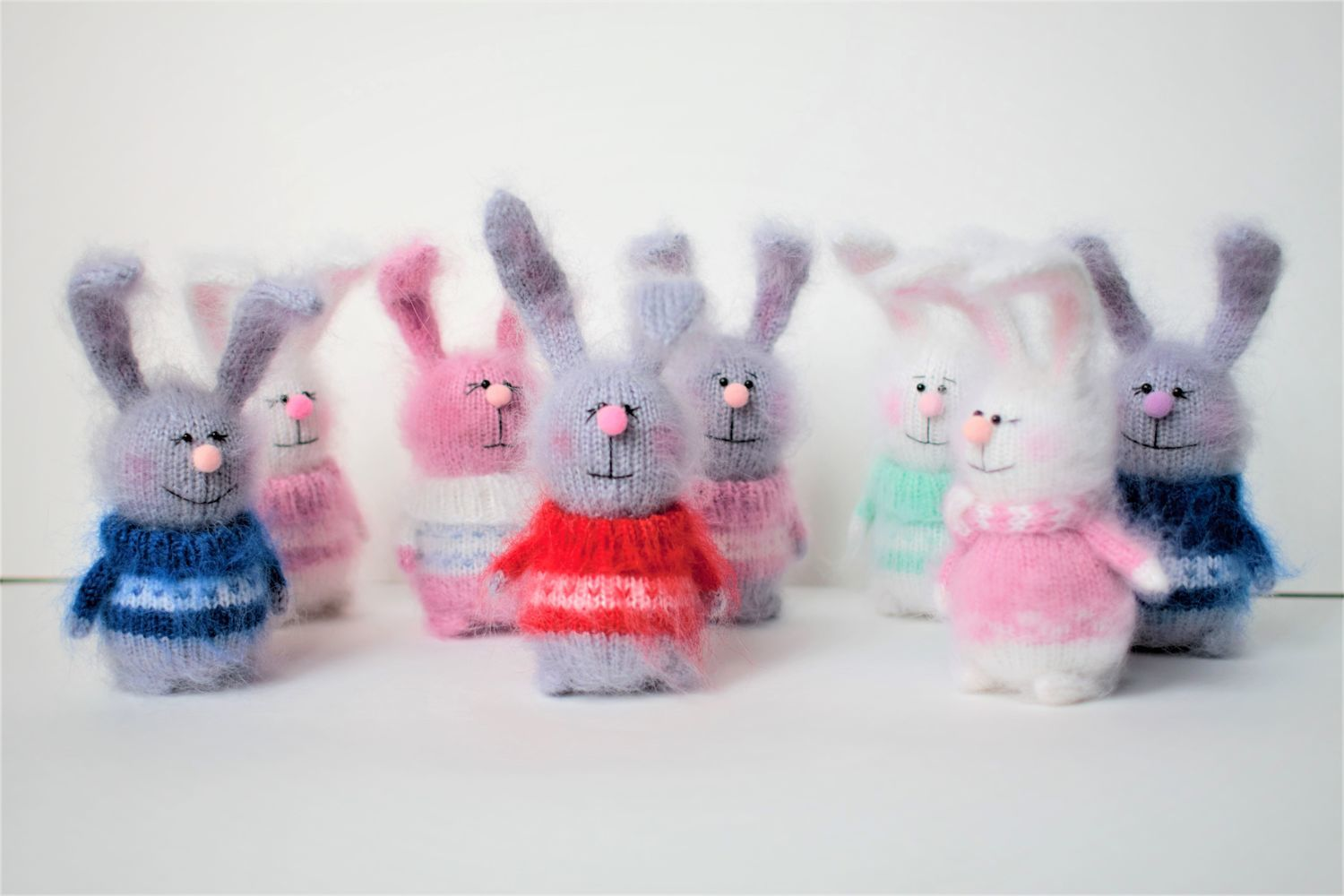 Bunny knitted hare toy handmade gift, Stuffed Toys, Zhukovsky,  Фото №1