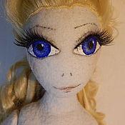 Куклы и игрушки ручной работы. Ярмарка Мастеров - ручная работа Интерьерная текстильная шарнирная кукла Элиза. Handmade.