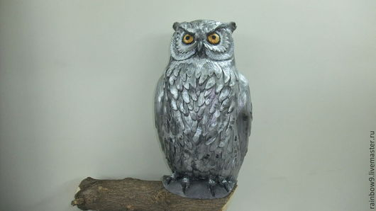 Скульптура сова для интерьерного и ландшафтного декора.