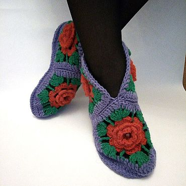 Обувь ручной работы. Ярмарка Мастеров - ручная работа Тапочки для дома. Handmade.