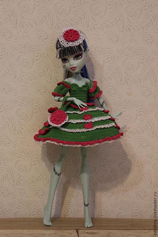 Одежда для кукол ручной работы. Ярмарка Мастеров - ручная работа. Купить Летняя зелень для Monster High. Handmade. Комбинированный