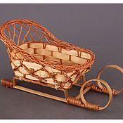 Материалы для творчества ручной работы. Ярмарка Мастеров - ручная работа Плетеные сани из ротанга. Handmade.