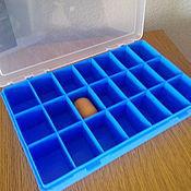 Материалы для творчества handmade. Livemaster - original item Box organizer for crafts 21 cell 280/185/50 mm. Handmade.