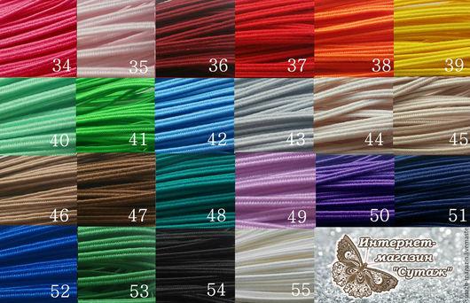 Для украшений ручной работы. Ярмарка Мастеров - ручная работа. Купить Белорусский сутаж по 3м 22 цвета. Handmade. Комбинированный