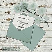 Дизайн и реклама ручной работы. Ярмарка Мастеров - ручная работа Мятные истории. Визитные карточки, конверты.. Handmade.