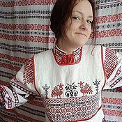 Русский стиль handmade. Livemaster - original item Apron, shower curtain, apron. Handmade.