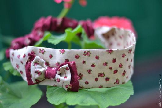 """Повязки ручной работы. Ярмарка Мастеров - ручная работа. Купить Повязка на голову """" Винтажные  розы"""". Handmade. Разноцветный"""