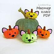 Материалы для творчества handmade. Livemaster - original item Amigurumi Halloween Pattern. Crochet Pumpkin pattern. Amigurumi cat. Handmade.
