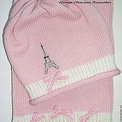 """Работы для детей, ручной работы. Ярмарка Мастеров - ручная работа Розовый вязаный комплект для девочки """"Маленькая француженка"""". Handmade."""