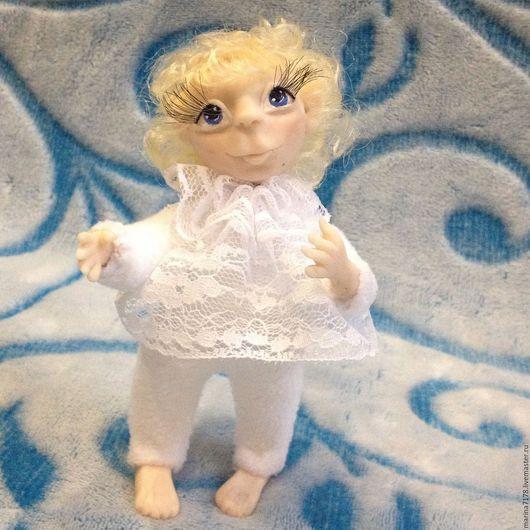 Коллекционные куклы ручной работы. Ярмарка Мастеров - ручная работа. Купить Ангелочки. Handmade. Белый, авторская ручная работа, каркас