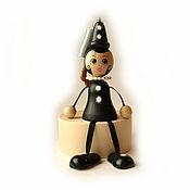 "Куклы и игрушки handmade. Livemaster - original item Игрушка ""Пьеретта"" на пружинке c колокольчиком. Handmade."