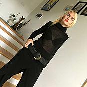 Одежда ручной работы. Ярмарка Мастеров - ручная работа Водолазка шерстяная BLACK ANGEL. Handmade.