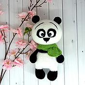 Куклы и игрушки handmade. Livemaster - original item Knitted Panda toy. Handmade.