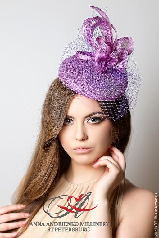 Свадебные аксессуары ручной работы. Вечерняя шляпка `Flora`. Анна Андриенко. Ярмарка Мастеров.