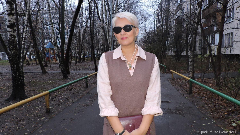 Тёплый сарафан в стиле Бохо из варёной шерсти, Сарафаны, Москва,  Фото №1