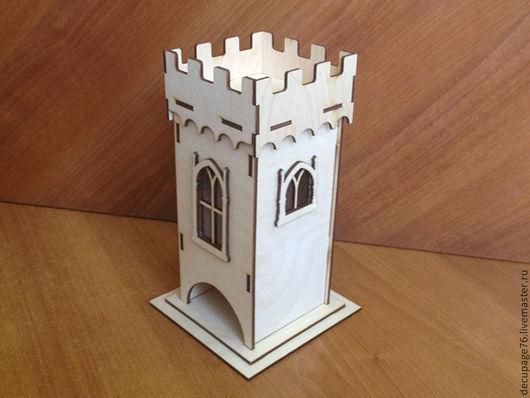 Чайный домик `Башня` (продается в разобранном виде в палетке) Размер: 10х10х22 см Материал: фанера 3 мм