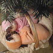 Куклы и игрушки ручной работы. Ярмарка Мастеров - ручная работа Спящая куколка с ручками. Handmade.
