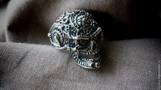 """Украшения для мужчин, ручной работы. Ярмарка Мастеров - ручная работа. Купить Перстень """"Механик"""". Handmade. Серебряное кольцо, байкерский стиль"""
