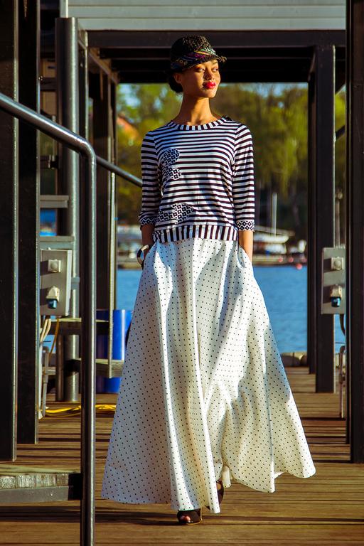 Юбки ручной работы. Ярмарка Мастеров - ручная работа. Купить Джинсовая юбка в пол. Handmade. Белый, белая юбка