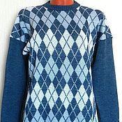 Одежда handmade. Livemaster - original item Jumper knitted Classic rhombus. Handmade.