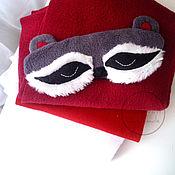 """Одежда ручной работы. Ярмарка Мастеров - ручная работа Маска для сна """"Енот"""". Handmade."""
