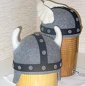 """Для дома и интерьера ручной работы. Ярмарка Мастеров - ручная работа Банная шапка """"Астерикс и Обеликс"""". Handmade."""