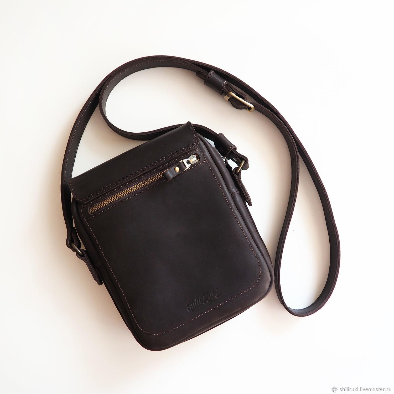 70394695de63 ShiliRuki Мужские сумки ручной работы. Сумка мужская кожаная. Сумка Планшет  OWL с клапаном. ShiliRuki