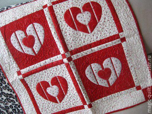 Подарки для влюбленных ручной работы. Ярмарка Мастеров - ручная работа. Купить Панно сердце. Handmade. Розовый, валентинка, американский хлопок