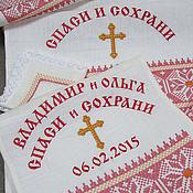 Свадебный салон handmade. Livemaster - original item Set for wedding (red embroidery) item no: 0216. Handmade.